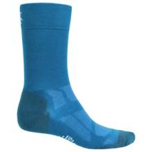 SmartWool Outdoor Sport Light Socks - Merino Wool, Crew (For Men and Women) in Arctic Blue - Closeouts