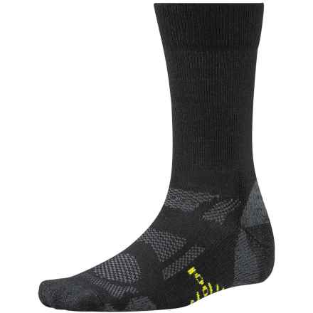 SmartWool Outdoor Sport Light Socks - Merino Wool, Crew (For Men and Women) in Black - 2nds