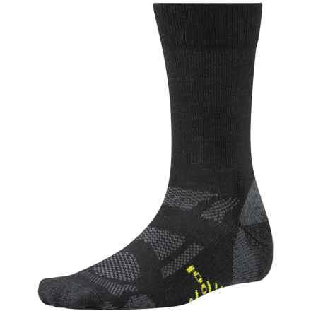 SmartWool Outdoor Sport Light Socks - Merino Wool, Crew (For Men and Women) in Black - 2nds
