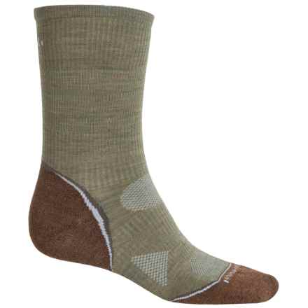 SmartWool Outdoor Sport Light Socks - Merino Wool, Crew (For Men and Women) in Chino/Sage - Closeouts