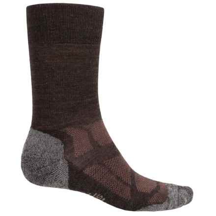 SmartWool Outdoor Sport Light Socks - Merino Wool, Crew (For Men and Women) in Chocolate - Closeouts