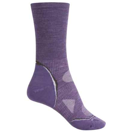 SmartWool Outdoor Sport Light Socks - Merino Wool, Crew (For Men and Women) in Lavender Heather - Closeouts