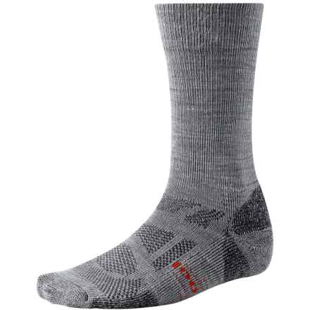 SmartWool Outdoor Sport Light Socks - Merino Wool, Crew (For Men and Women) in Light Grey - 2nds