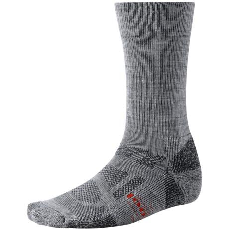 SmartWool Outdoor Sport Light Socks - Merino Wool, Crew (For Men and Women) in Light Grey