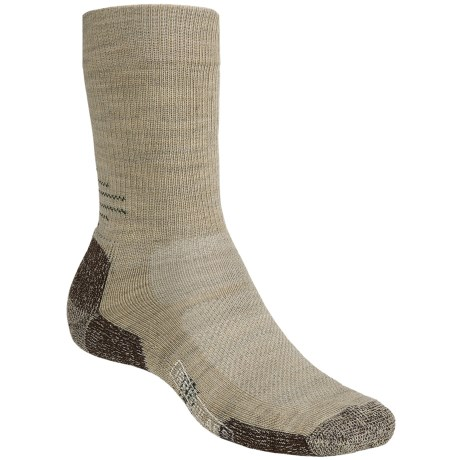SmartWool Outdoor Sport Light Socks - Merino Wool, Crew (For Men and Women) in Oatmeal Heather