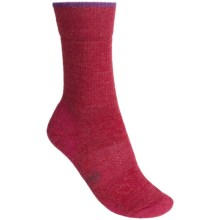 SmartWool Outdoor Sport Light Socks - Merino Wool, Crew (For Women) in Persian Red/Aubergine - Closeouts