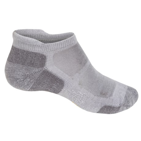 SmartWool Outdoor Sport Micro Socks - Merino Wool, Lightweight, Below the Ankle (For Men and Women) in Silver Gray Heather