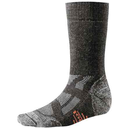 SmartWool Outdoor Sport Socks - Merino Wool, Crew (For Men and Women) in Charcoal - 2nds