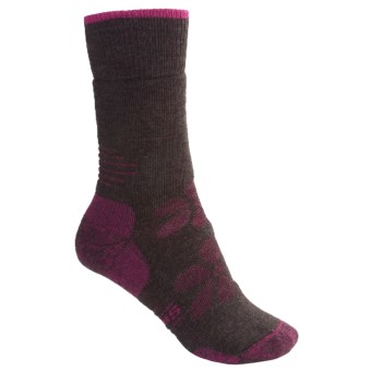 SmartWool Outdoor Sport Socks - Merino Wool, Medium Cushion, Crew (For Women) in Chestnut/Berry