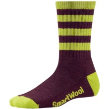 SmartWool Outdoor Striped Socks - Merino Wool, Crew (For Women) in Aubergine - 2nds