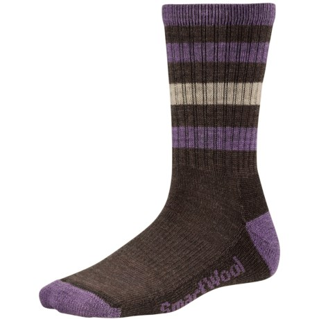 SmartWool Outdoor Striped Socks - Merino Wool, Crew (For Women) in Chestnut
