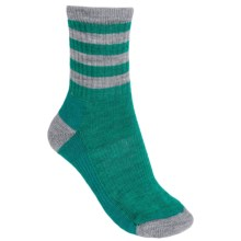 SmartWool Outdoor Striped Socks - Merino Wool, Crew (For Women) in Dark Spearmint - 2nds