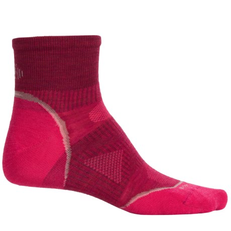 SmartWool Outdoor Ultralight Mini Socks - Merino Wool, Ankle (For Women) in Persian Red