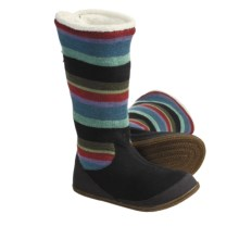 SmartWool Over Easy Slippers - Merino Wool (For Women) in Black Multi - Closeouts