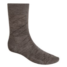 SmartWool Over Woven Crew Socks (For Men) in Taupe - 2nds