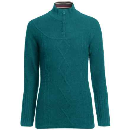SmartWool Owl Creek Sweater - Merino Wool, Mock Neck (For Women) in Teal - 2nds