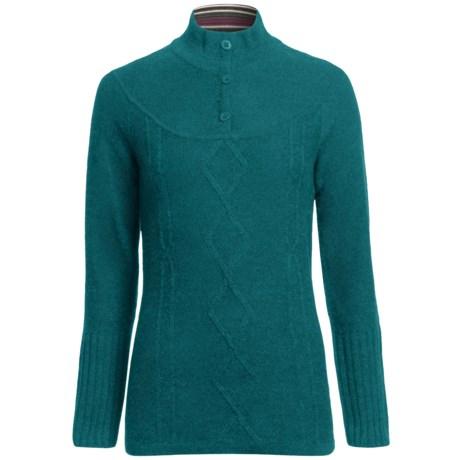 SmartWool Owl Creek Sweater - Merino Wool, Mock Neck (For Women) in Teal
