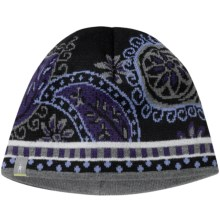 SmartWool Paisley Beanie Hat - Merino Wool (For Men and Women) in Black - 2nds