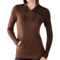 SmartWool Palisade Hoodie Sweatshirt - Merino Wool (For Women) in Aegean Heather
