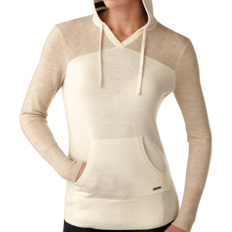 SmartWool Palisade Hoodie Sweatshirt - Merino Wool (For Women) in Natural