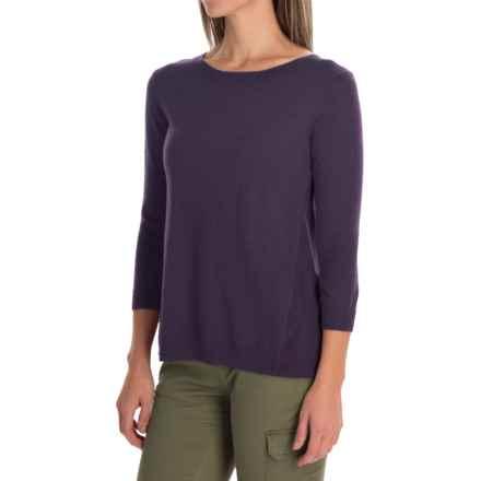 SmartWool Palisade Trail Sweater - Merino Wool, 3/4 Sleeve (For Women) in Desert Purple Heather - Closeouts