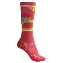 SmartWool Park Crystalize Ski Socks - Merino Wool, Over-the-Calf (For Men and Women) in Watermelon - 2nds