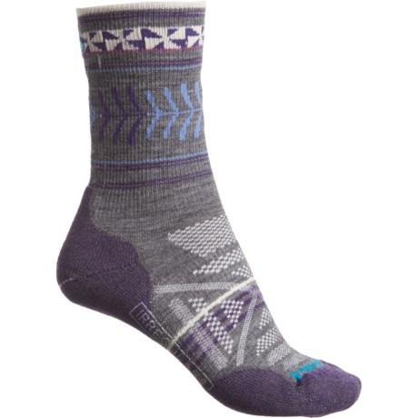 b2036210a073f SmartWool Pattern PhD Outdoor Lightweight Socks - Merino Wool, Crew (For  Women) in