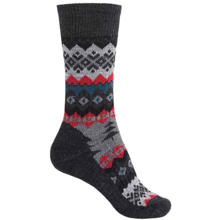 SmartWool Peppermint Delight Socks - Merino Wool, Crew (For Men and Women) in Charcoal Heather - Closeouts