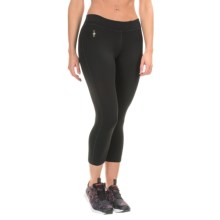 SmartWool PhD Capris - Merino Wool (For Women) in Black - Closeouts