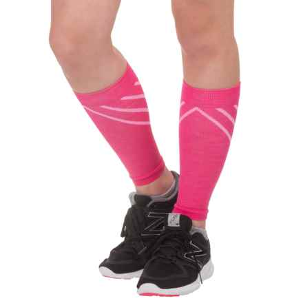 SmartWool PhD Compression Calf Sleeves (For Men and Women) in Bright Pink - 2nds