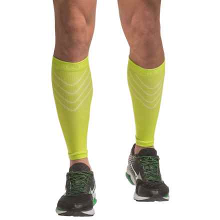 SmartWool PhD Compression Calf Sleeves (For Men and Women) in Smartwool Green - 2nds