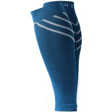 SmartWool PhD Compression Calf Sleeves - Merino Wool, Footless (For Men and Women) in Arctic Blue - 2nds