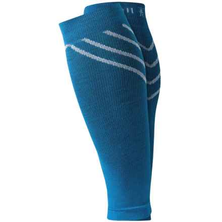 SmartWool PhD Compression Calf Sleeves - Merino Wool (For Men and Women) in Arctic Blue - Closeouts