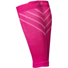 SmartWool PhD Compression Calf Sleeves - Merino Wool (For Men and Women) in Bright Pink - Closeouts