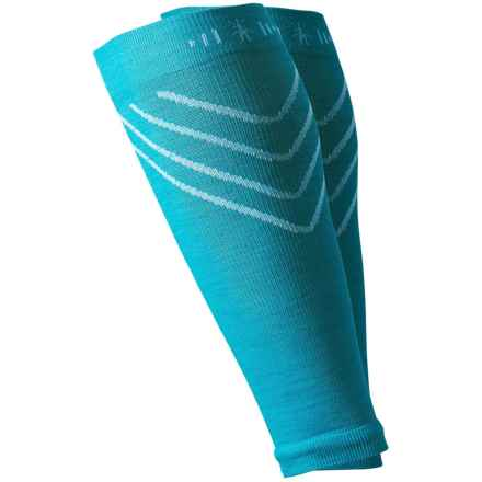 SmartWool PhD Compression Calf Sleeves - Merino Wool (For Men and Women) in Capri - Closeouts