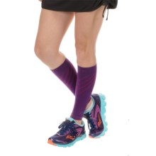 SmartWool PhD Compression Calf Sleeves - Merino Wool (For Men and Women) in Purple Dahlia - Closeouts