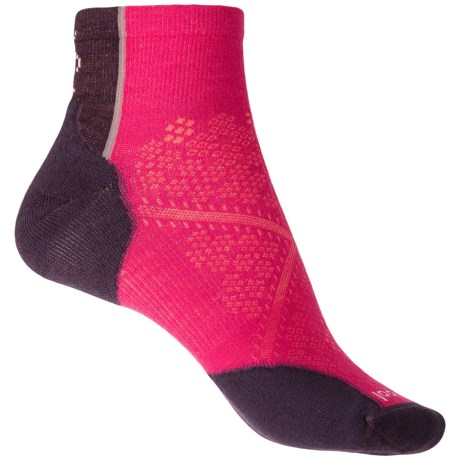 SmartWool PhD Cycle Light Elite Socks - Ankle (For Women) in Potion Pink