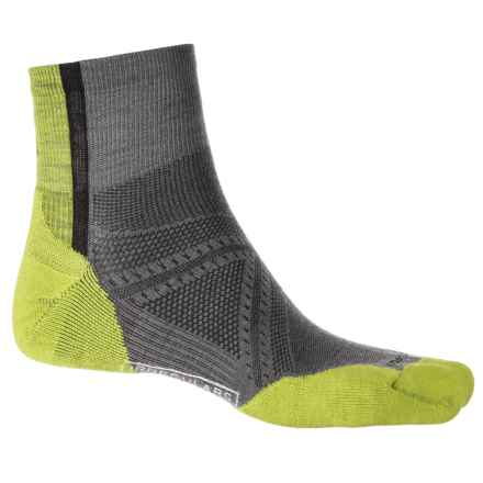 SmartWool PhD Cycle Light Elite Socks - Merino Wool, Ankle (For Men and Women) in Graphite - 2nds