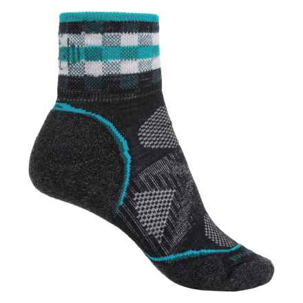 SmartWool PhD Cycle Light Mini Socks - Merino Wool, Ankle (For Women) in Black - Closeouts