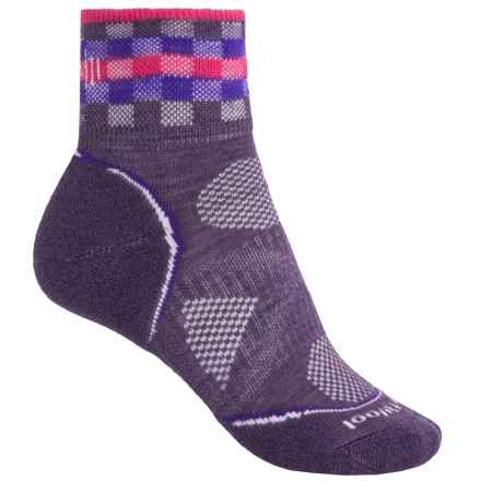 SmartWool PhD Cycle Light Mini Socks - Merino Wool, Ankle (For Women) in Desert Purple - Closeouts