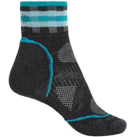 SmartWool PhD Cycle Light Socks - Merino Wool, Ankle (For Women) in Black - 2nds