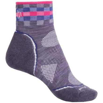 SmartWool PhD Cycle Light Socks - Merino Wool, Ankle (For Women) in Desert Purple - 2nds