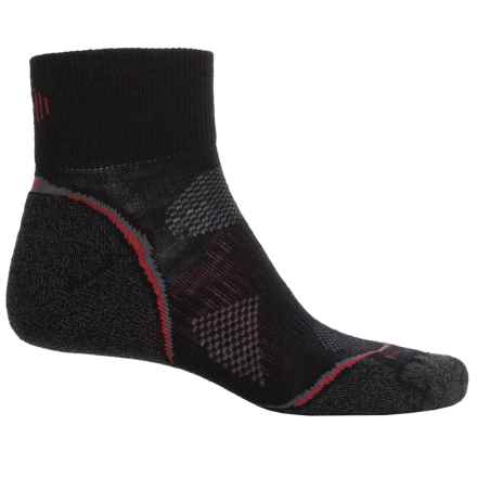 SmartWool PhD Cycle Light Socks - Merino Wool, Quarter Crew (For Men and Women) in Black - Closeouts