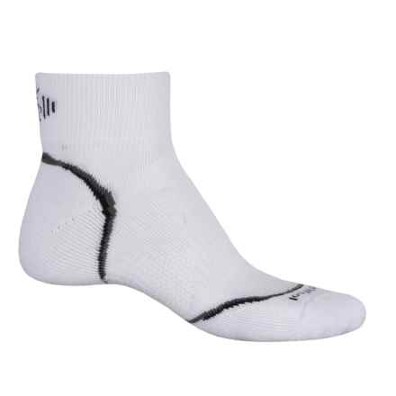 SmartWool PhD Cycle Light Socks - Merino Wool, Quarter Crew (For Men and Women) in White - Closeouts