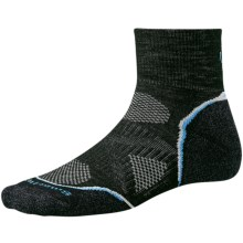 SmartWool PhD Cycle Mini Socks - Merino Wool, Lightweight (For Women) in Black - 2nds
