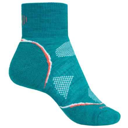 SmartWool PhD Cycle Mini Socks - Merino Wool, Lightweight (For Women) in Capri - 2nds