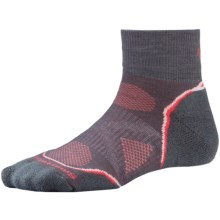 SmartWool PhD Cycle Mini Socks - Merino Wool, Lightweight (For Women) in Graphite - 2nds