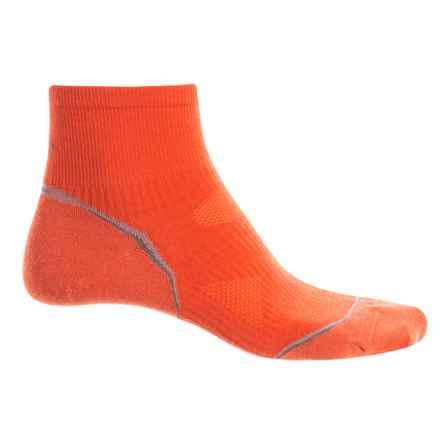 SmartWool PhD Cycle Mini Socks - Merino Wool, Quarter Crew (For Men and Women) in Bright Orange - Closeouts