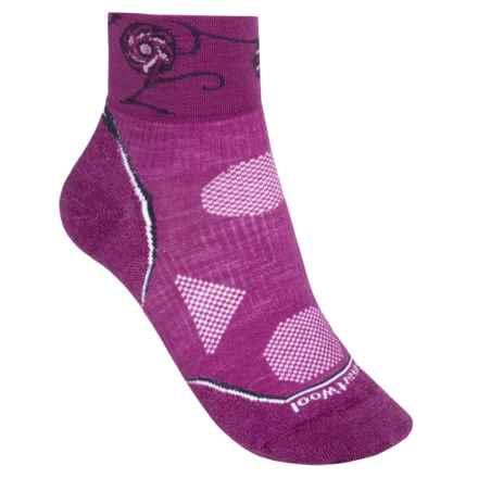SmartWool PhD Cycle Ultra Light Mini Socks - Merino Wool (For Women) in Berry/Purple - 2nds