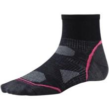 SmartWool PhD Cycle Ultra Light Mini Socks - Merino Wool (For Women) in Black/Punch - 2nds